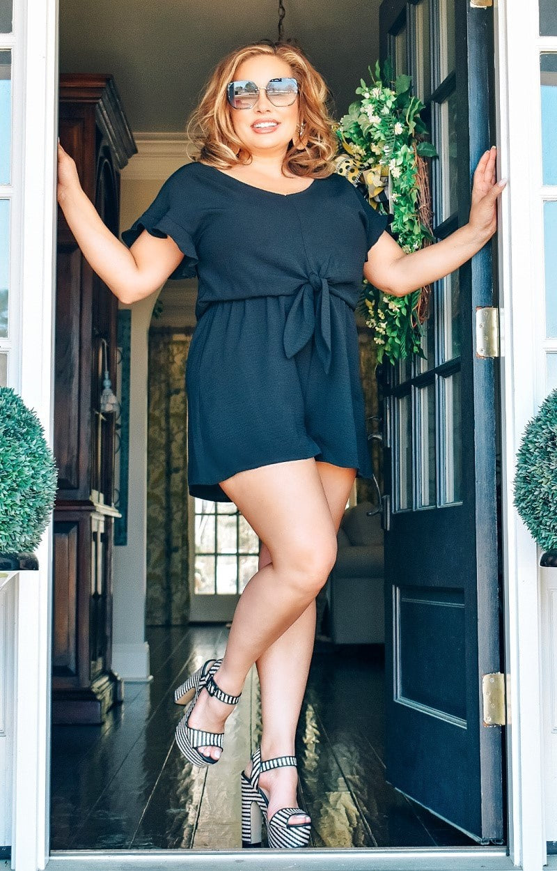 Load image into Gallery viewer, Here For It Romper - Black