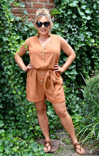 Great Intuitions Romper - Rust