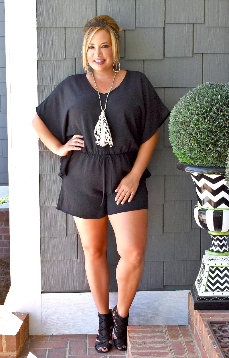 Load image into Gallery viewer, I've Got Status Romper - Black