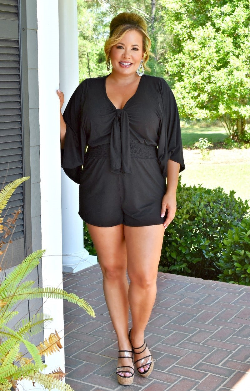 Highly Rated Romper - Black