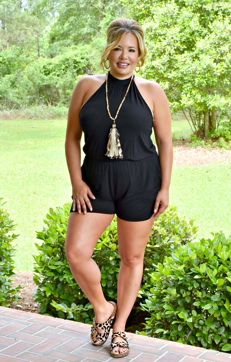 Load image into Gallery viewer, Hey Babe Romper - Black