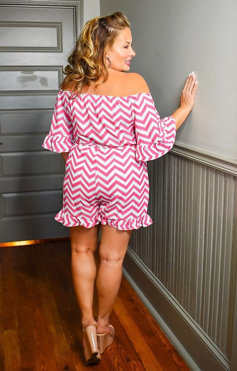 Load image into Gallery viewer, Call Me In Print Romper - Pink