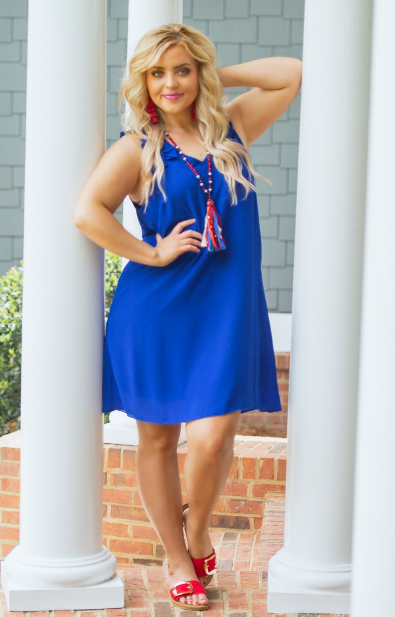 Taking Over Dress - Royal Blue