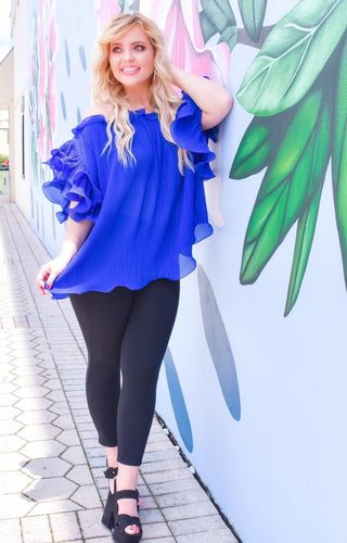 Easily Adored Top - Royal Blue