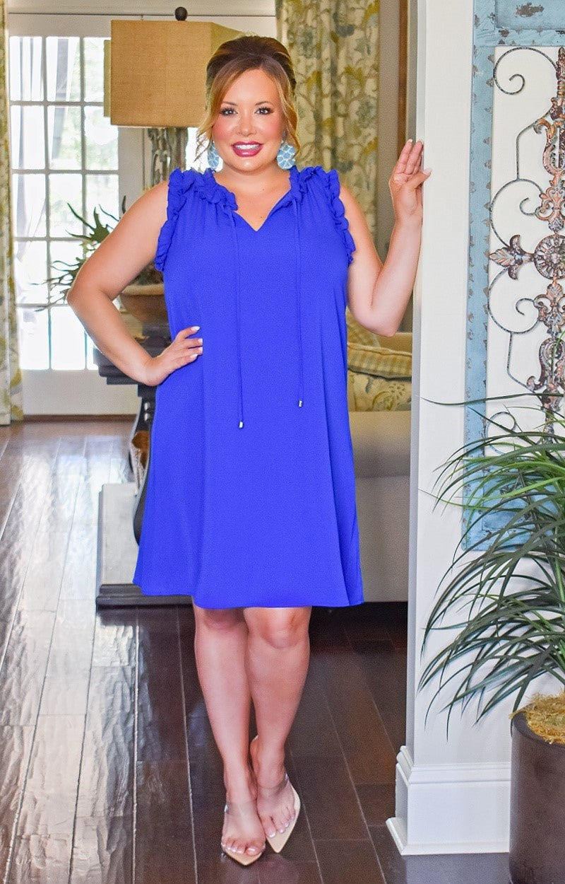 Load image into Gallery viewer, One In A Million Dress - Royal Blue