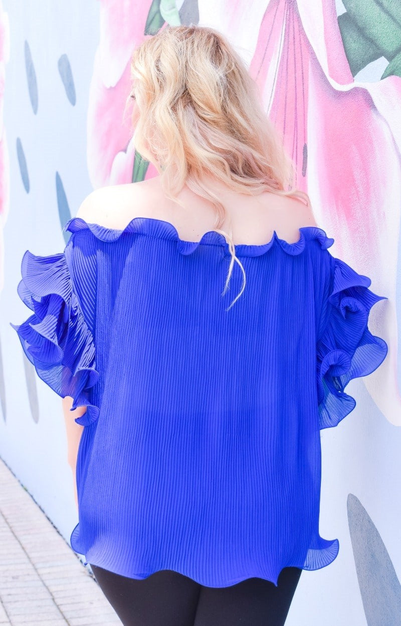 Load image into Gallery viewer, Easily Adored Top - Royal Blue