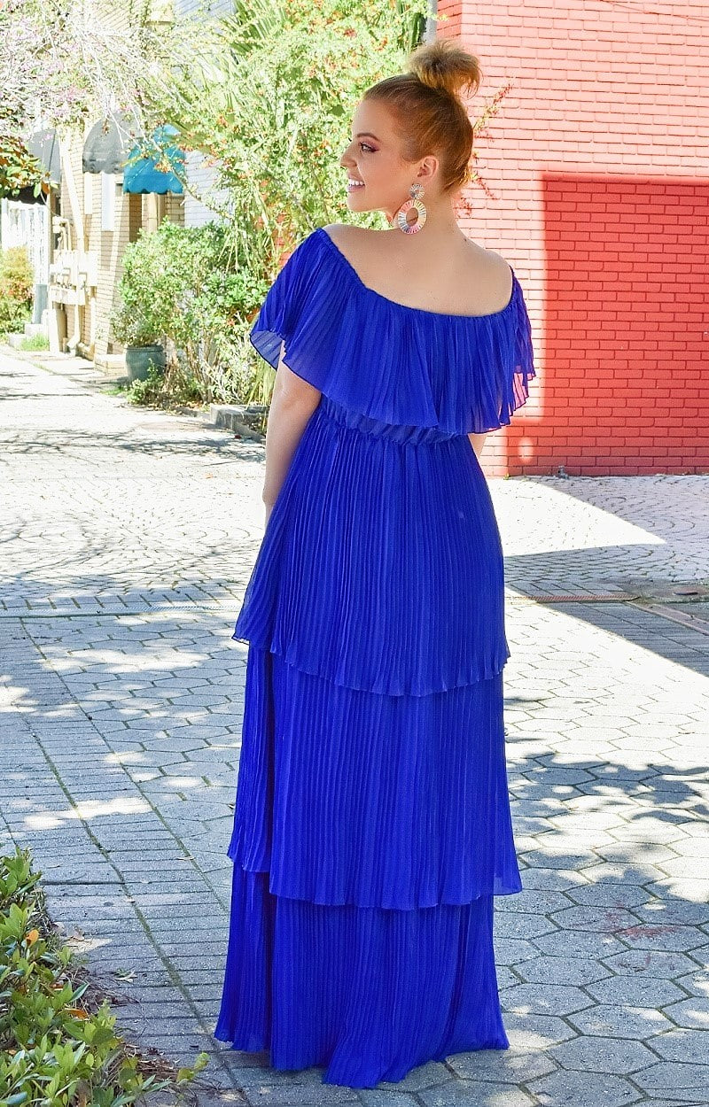 Load image into Gallery viewer, Best Believe It Maxi Dress - Cobalt Blue