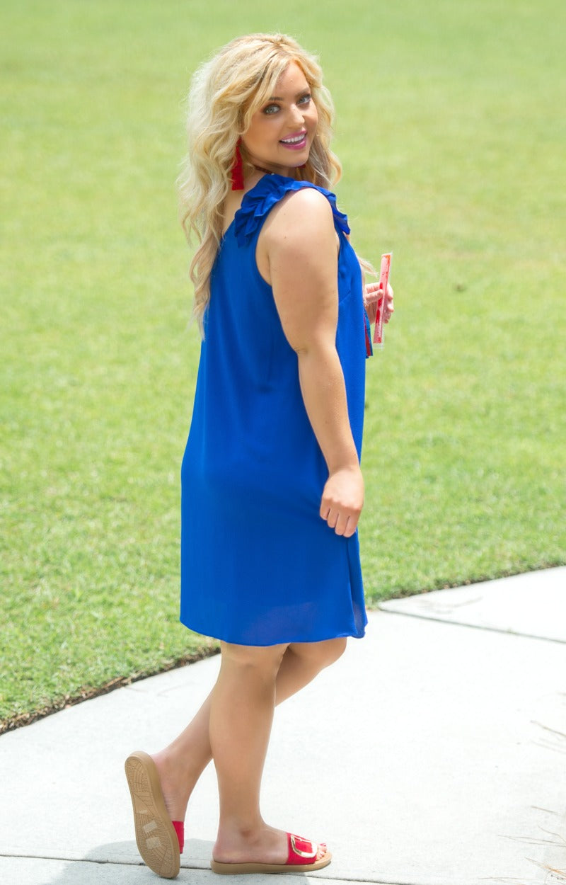Load image into Gallery viewer, Taking Over Dress - Royal Blue