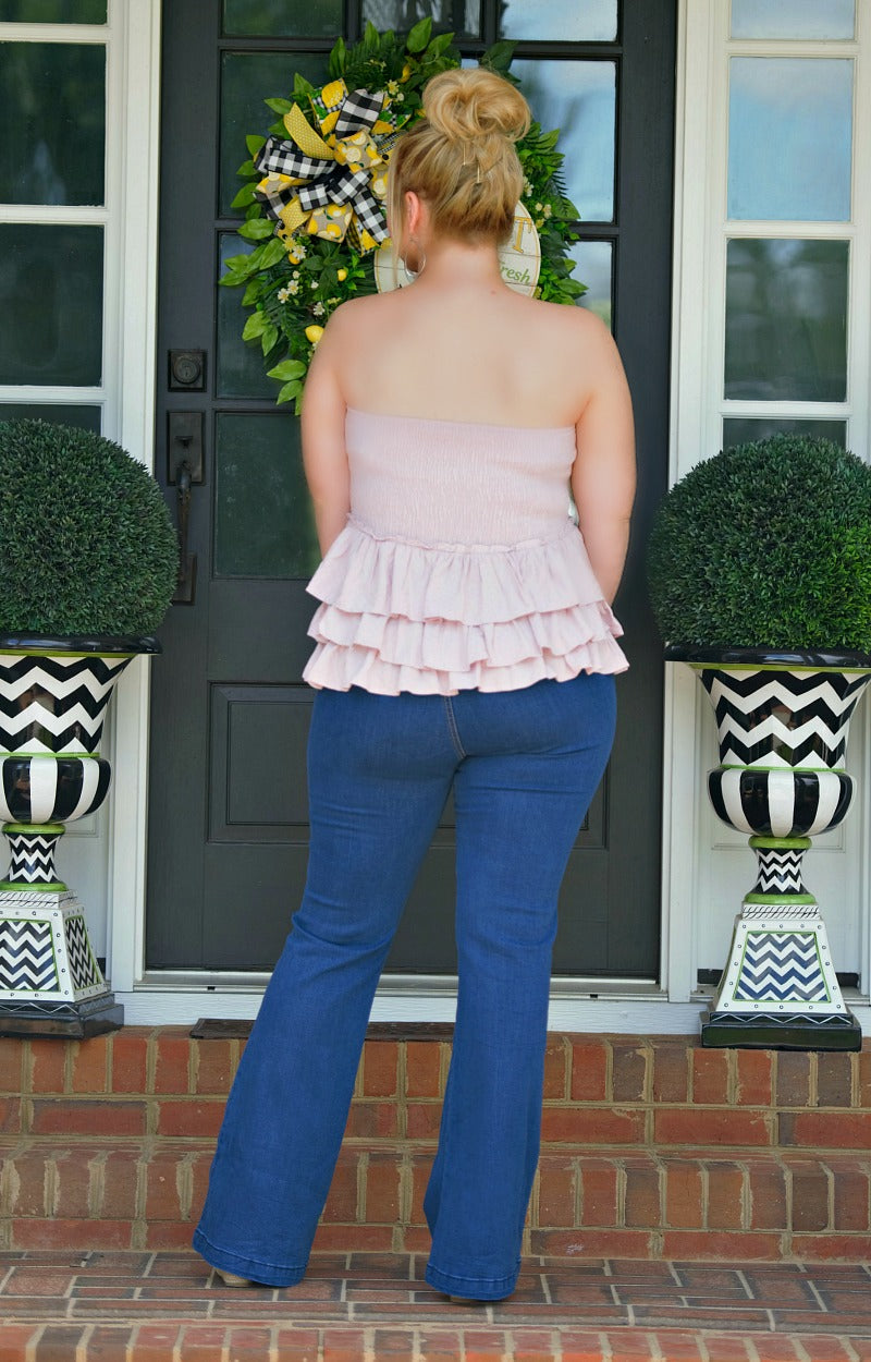 Load image into Gallery viewer, Split Personality Ruffle Top - Lavender