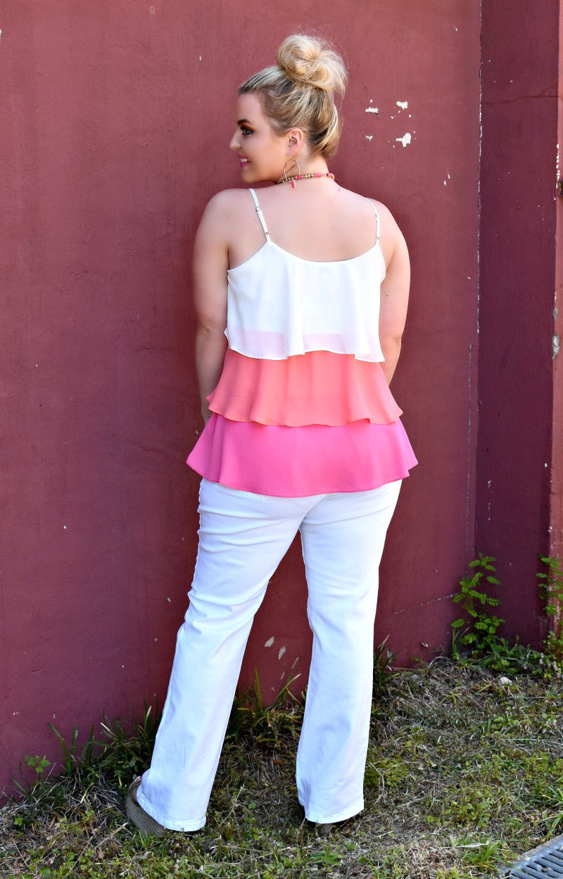 Enough For Me Colorblock Top - Pink/Orange