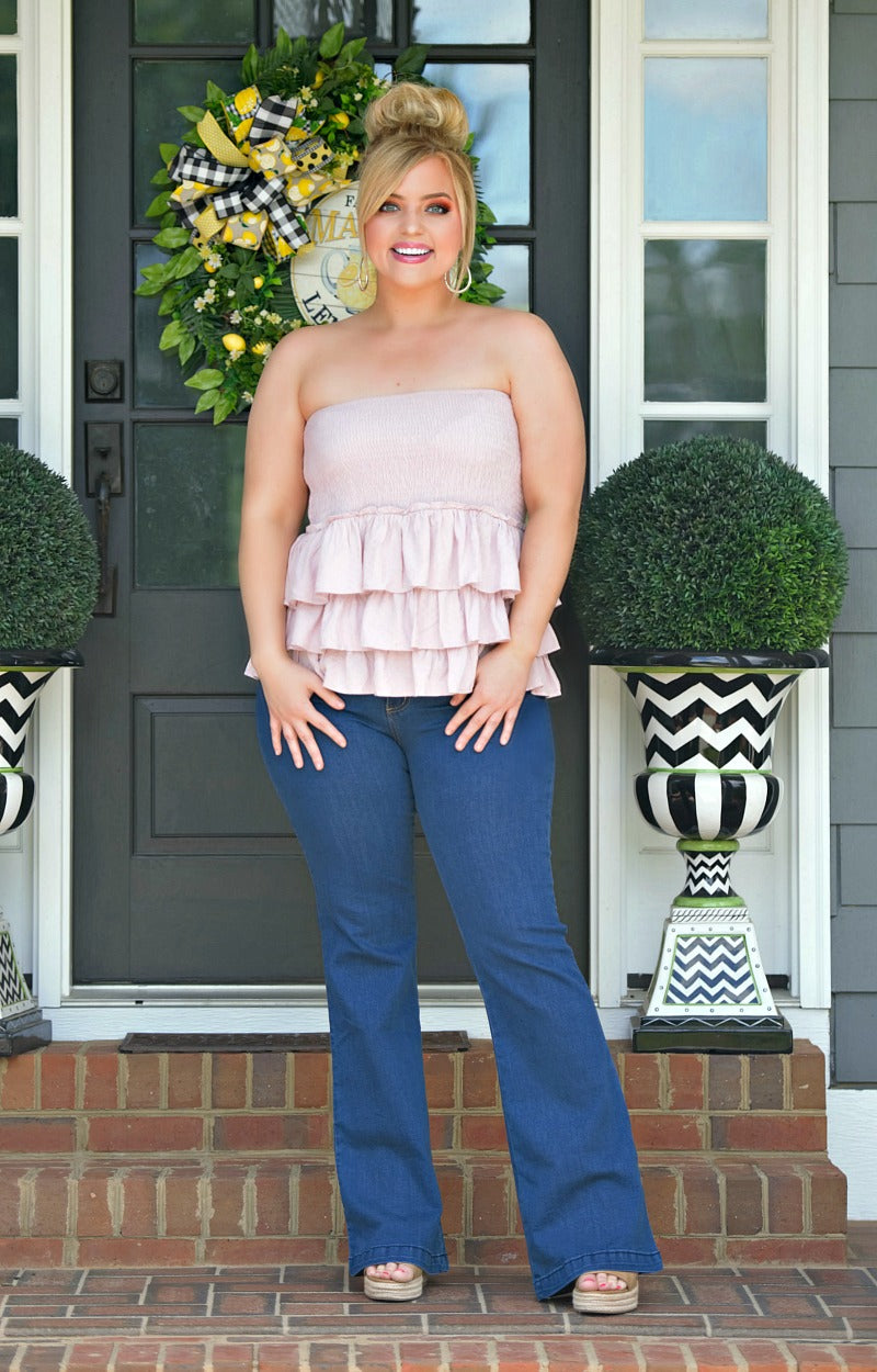 Split Personality Ruffle Top - Lavender