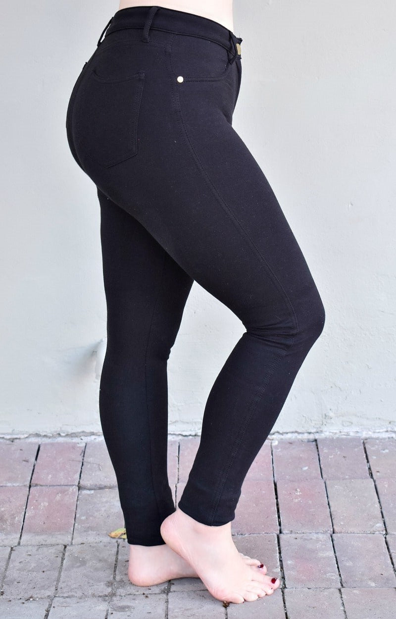 Load image into Gallery viewer, Running Out Jeggings - Black