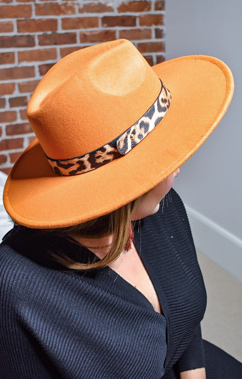 Load image into Gallery viewer, Everything You Got Hat - Burnt Orange/Leopard