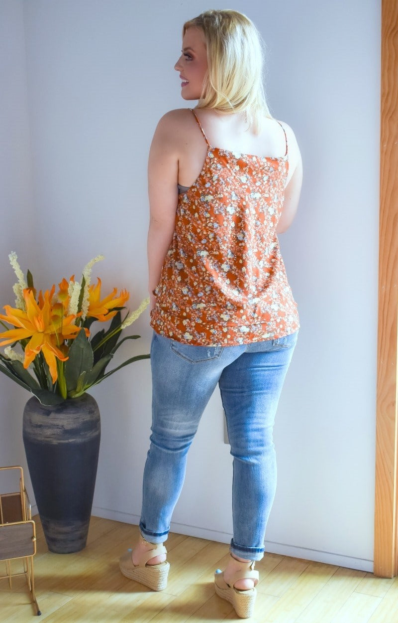 Load image into Gallery viewer, Had Your Shot Floral Top - Rust
