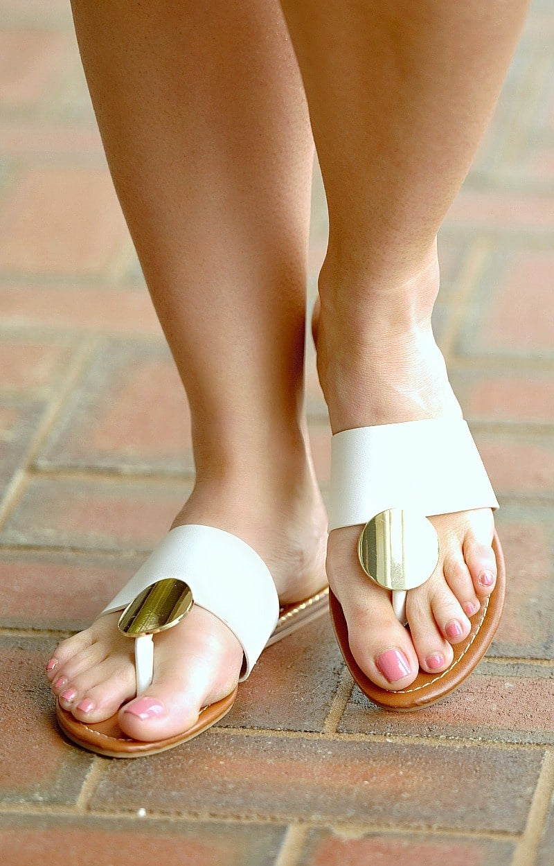 Load image into Gallery viewer, Make Way Sandals - White