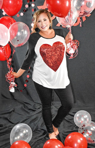 Love Is All Around Sequin Top