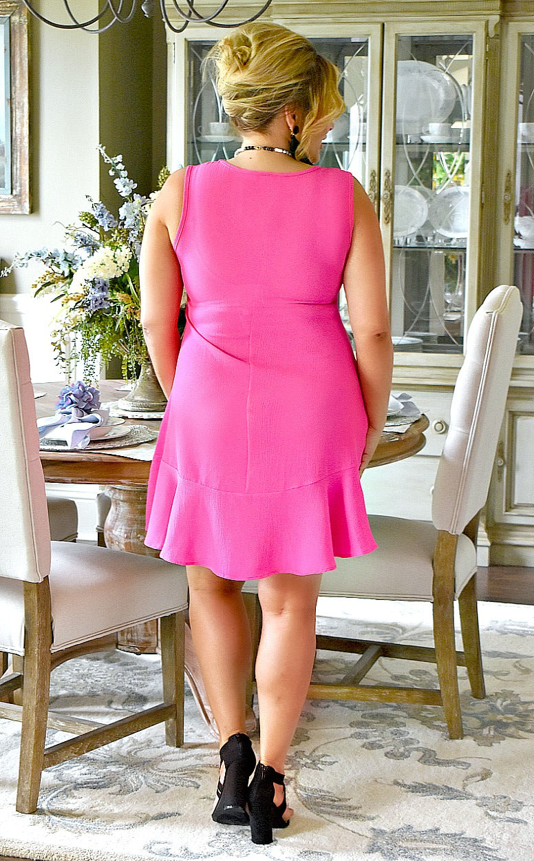 Load image into Gallery viewer, She's A Keeper Dress - Hot Pink