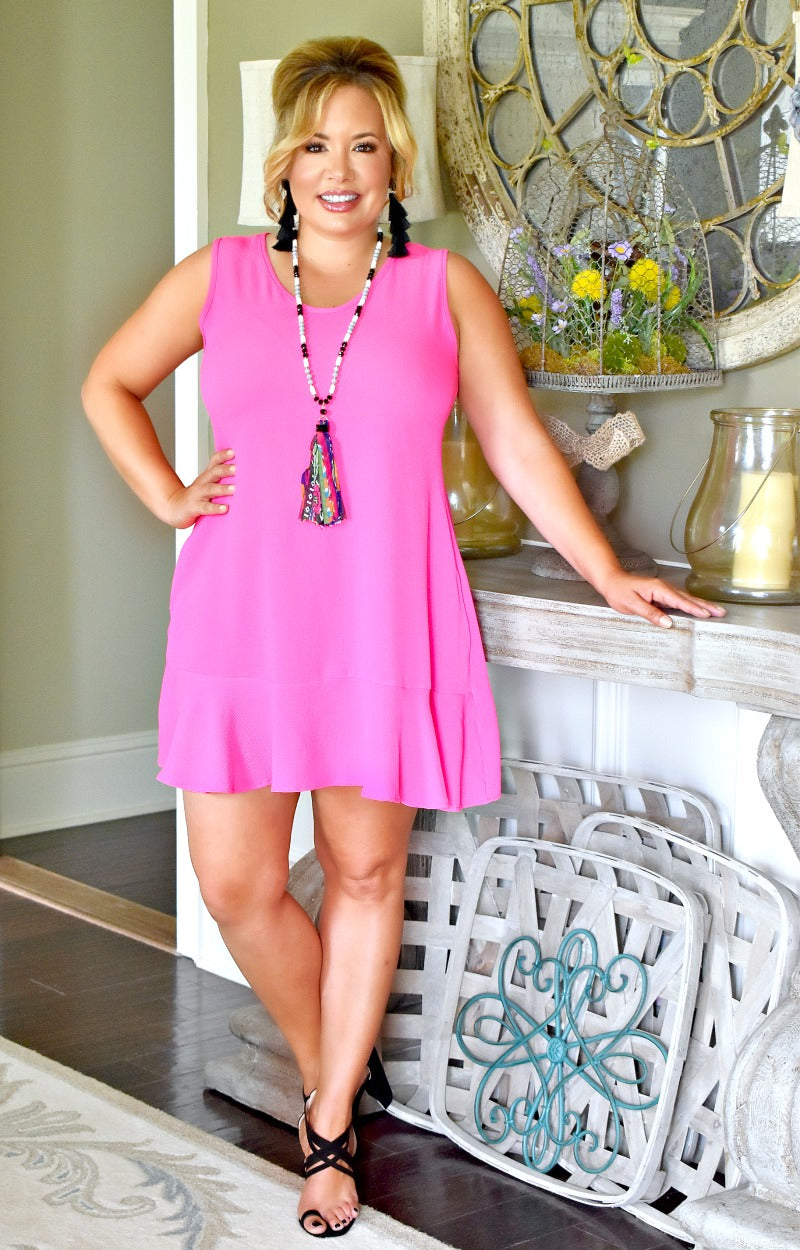 She's A Keeper Dress - Hot Pink