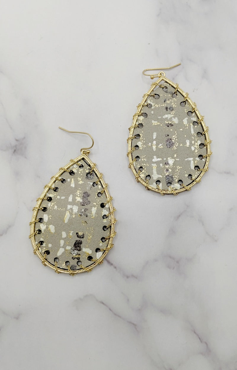 Load image into Gallery viewer, Kissed By Candlelight Earrings - Gray