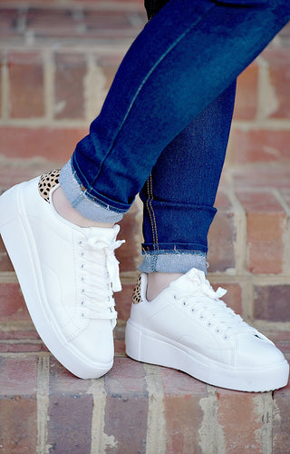 What You Like Sneakers - White/Leopard