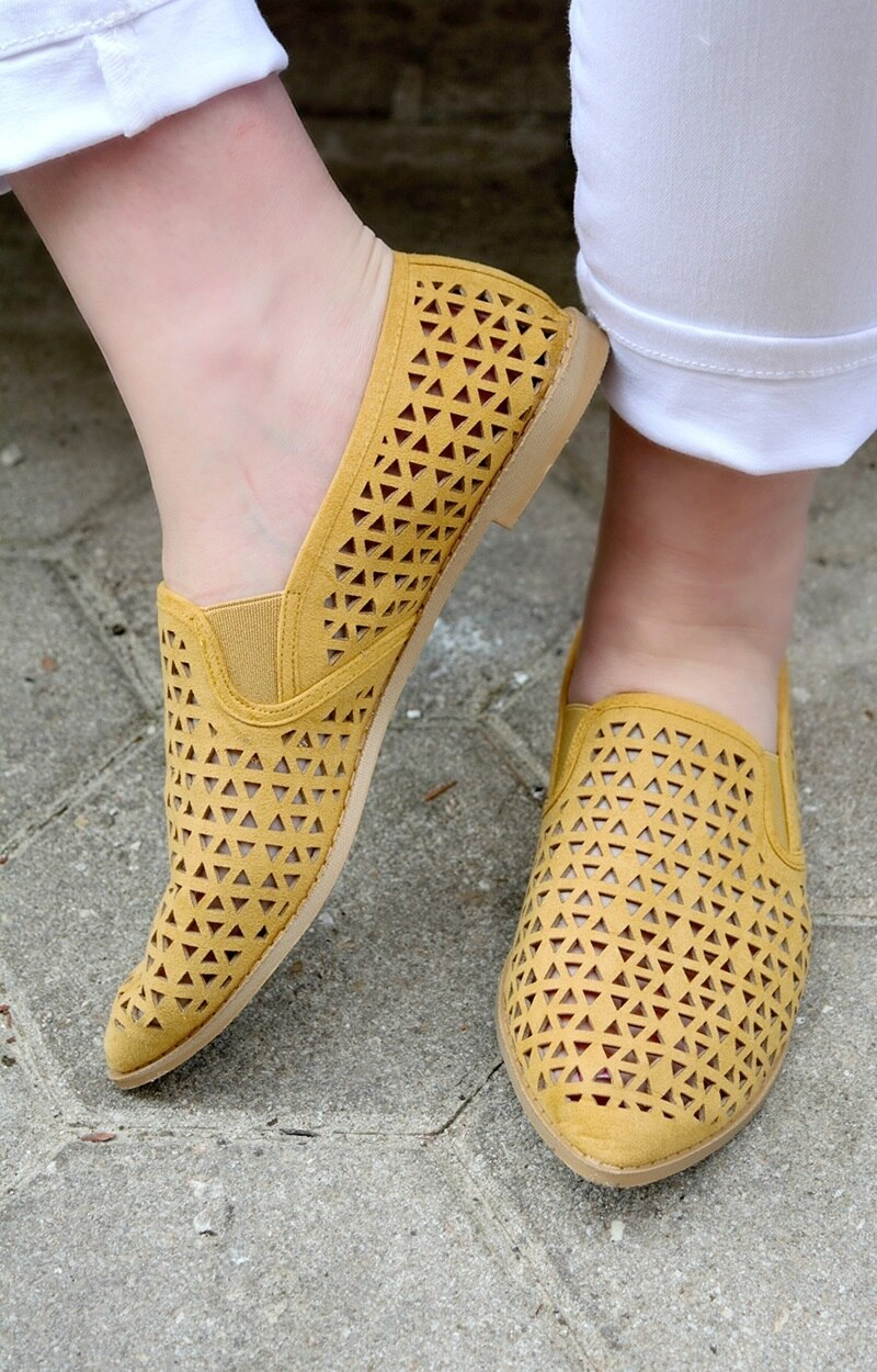 Catch Me Walking Flats - Mustard