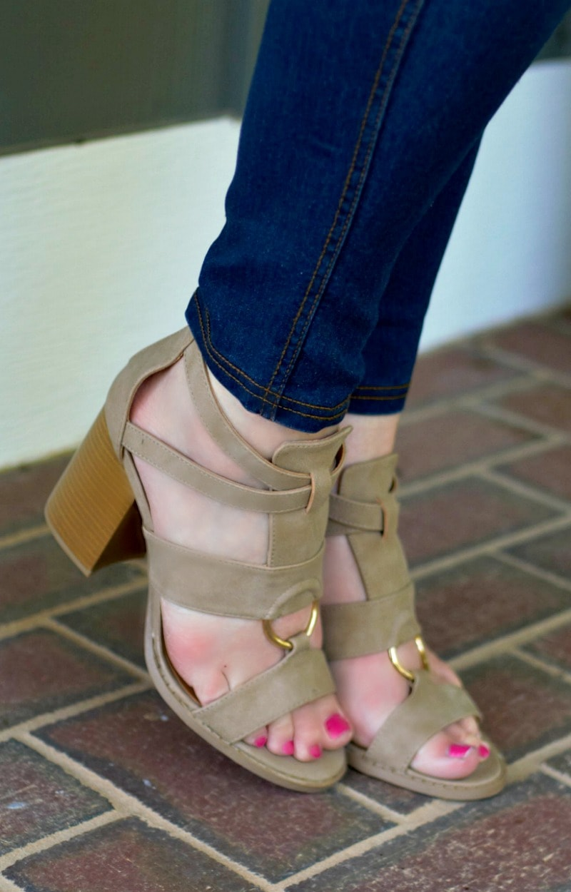 Hold Your Breath Heels - Taupe