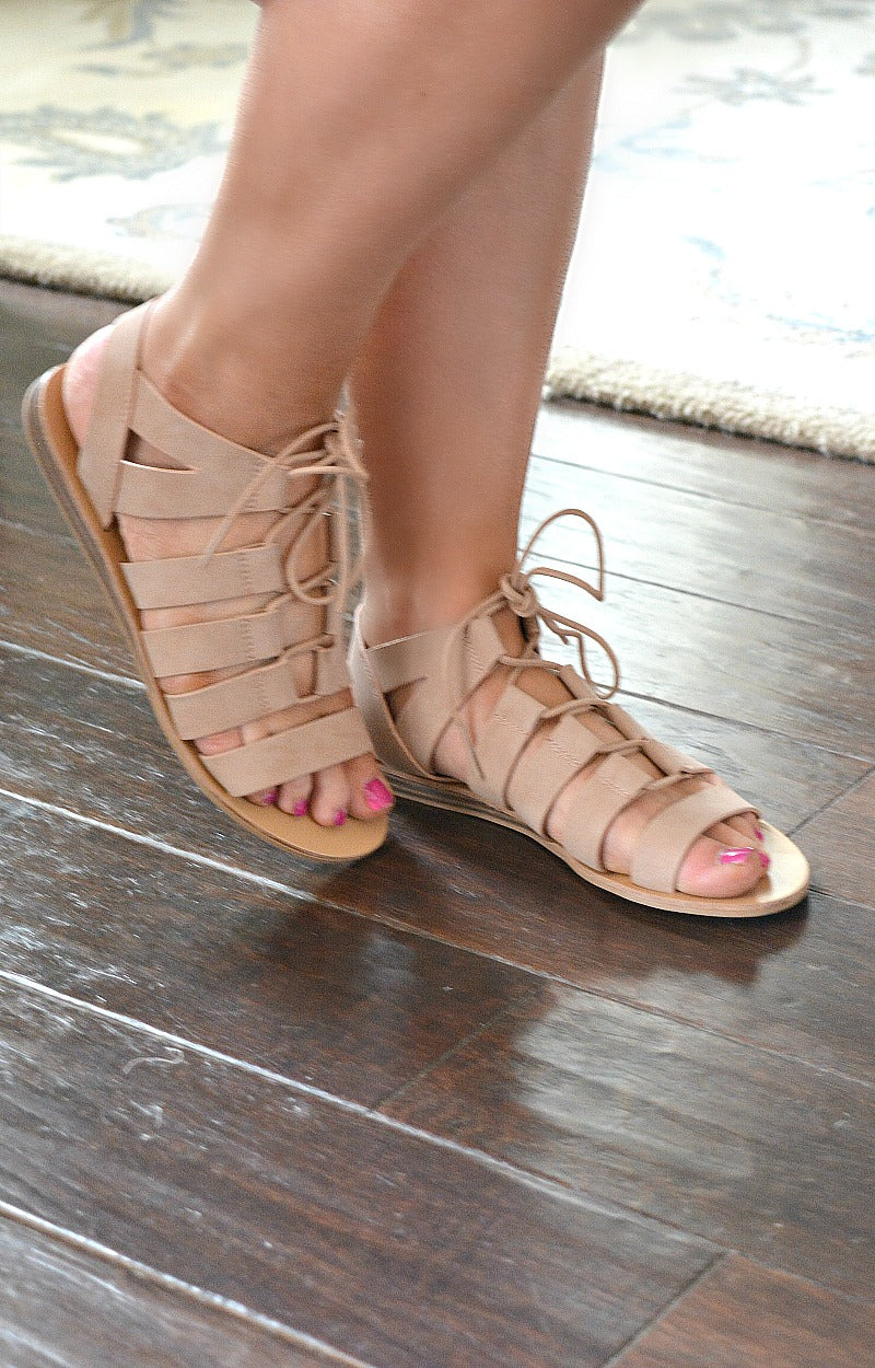 Load image into Gallery viewer, So Bold Gladiator Sandals - Blush