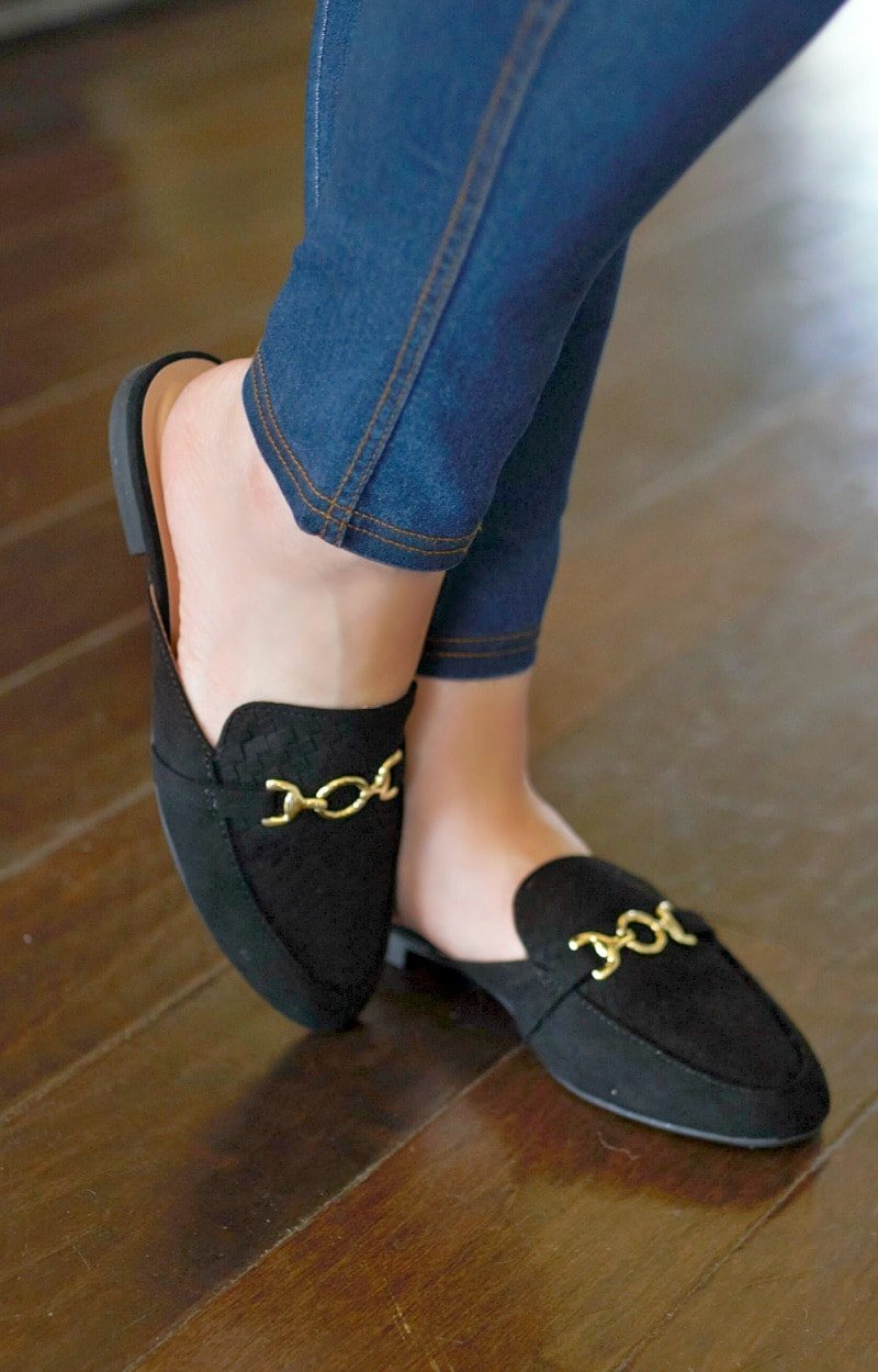 Load image into Gallery viewer, Just For Today Mules - Black