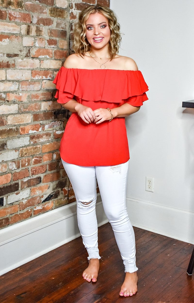Simple And Sweet Top - Red