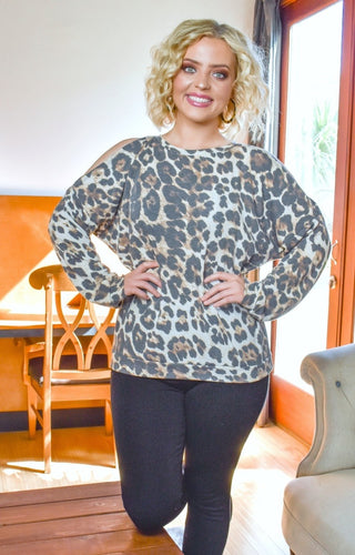 Must Be Love Leopard Print Top