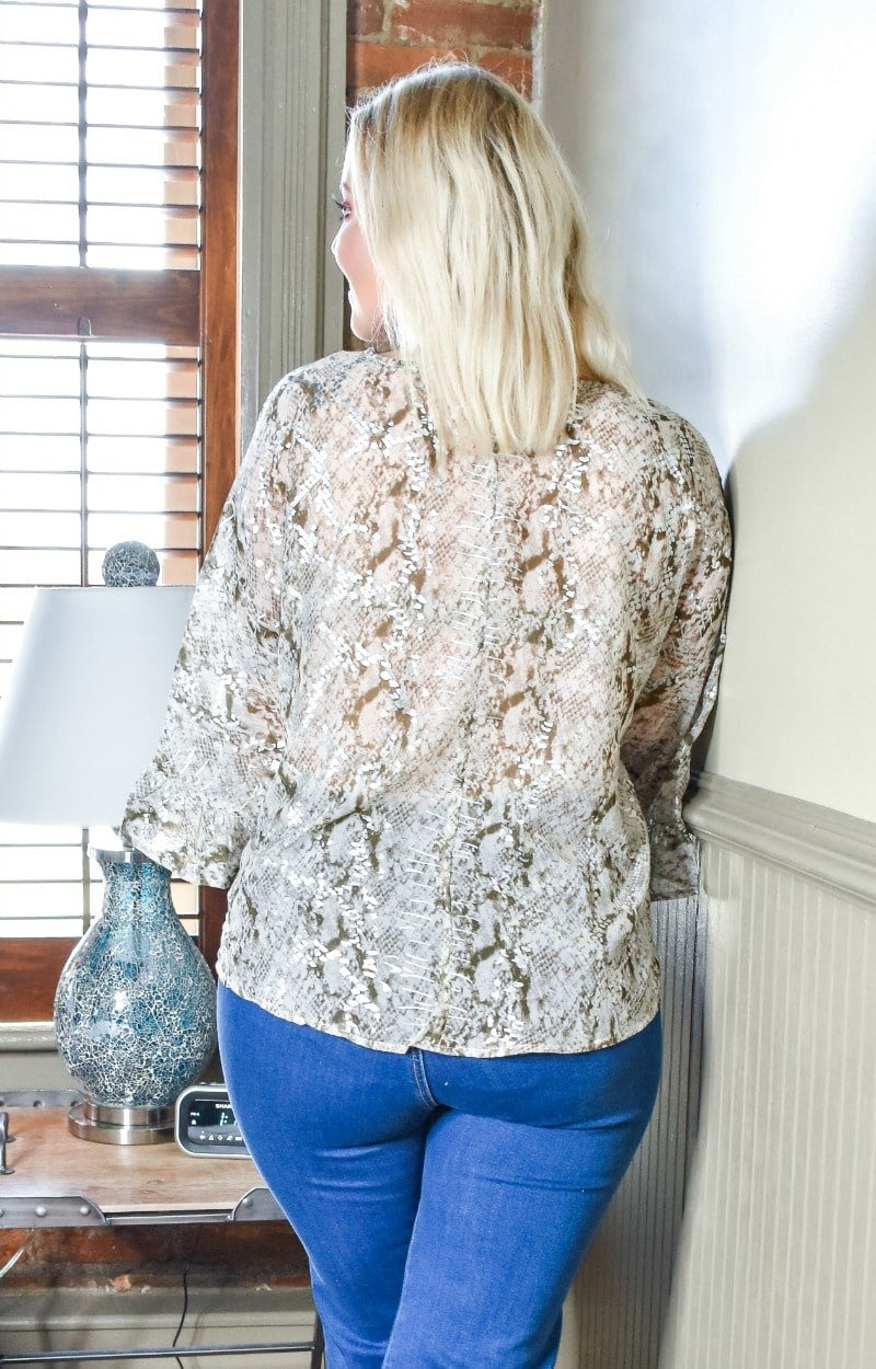 Load image into Gallery viewer, Lucky Lady Snake Print Top