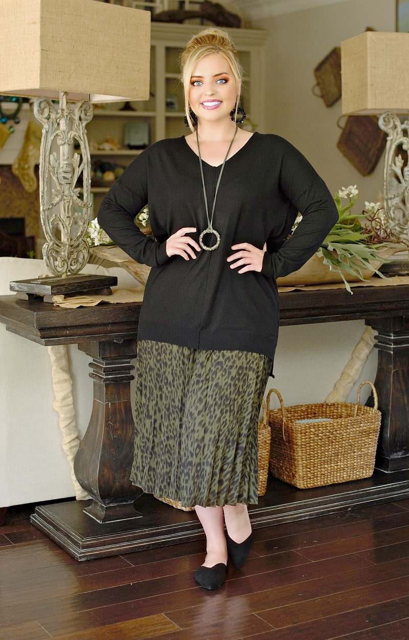 Load image into Gallery viewer, Being Catty Leopard Print Skirt - Olive
