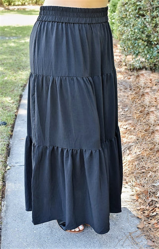 Feeling Free Maxi Skirt - Black