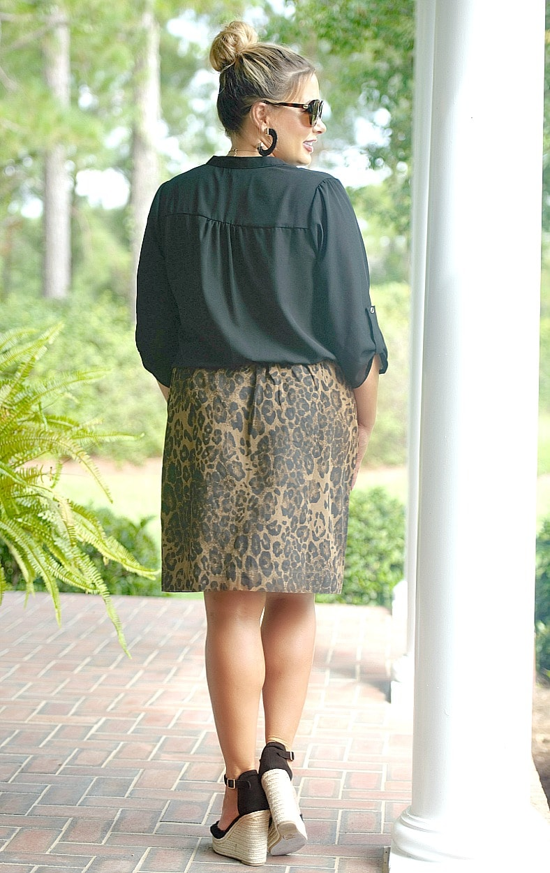 Wild Ways Leopard Print Skirt