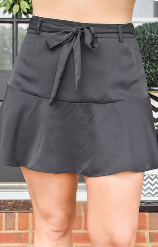 Just Getting Started Skort - Black