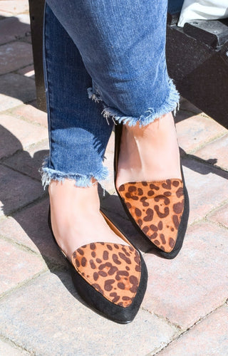 Walking Tall Leopard Print Flats