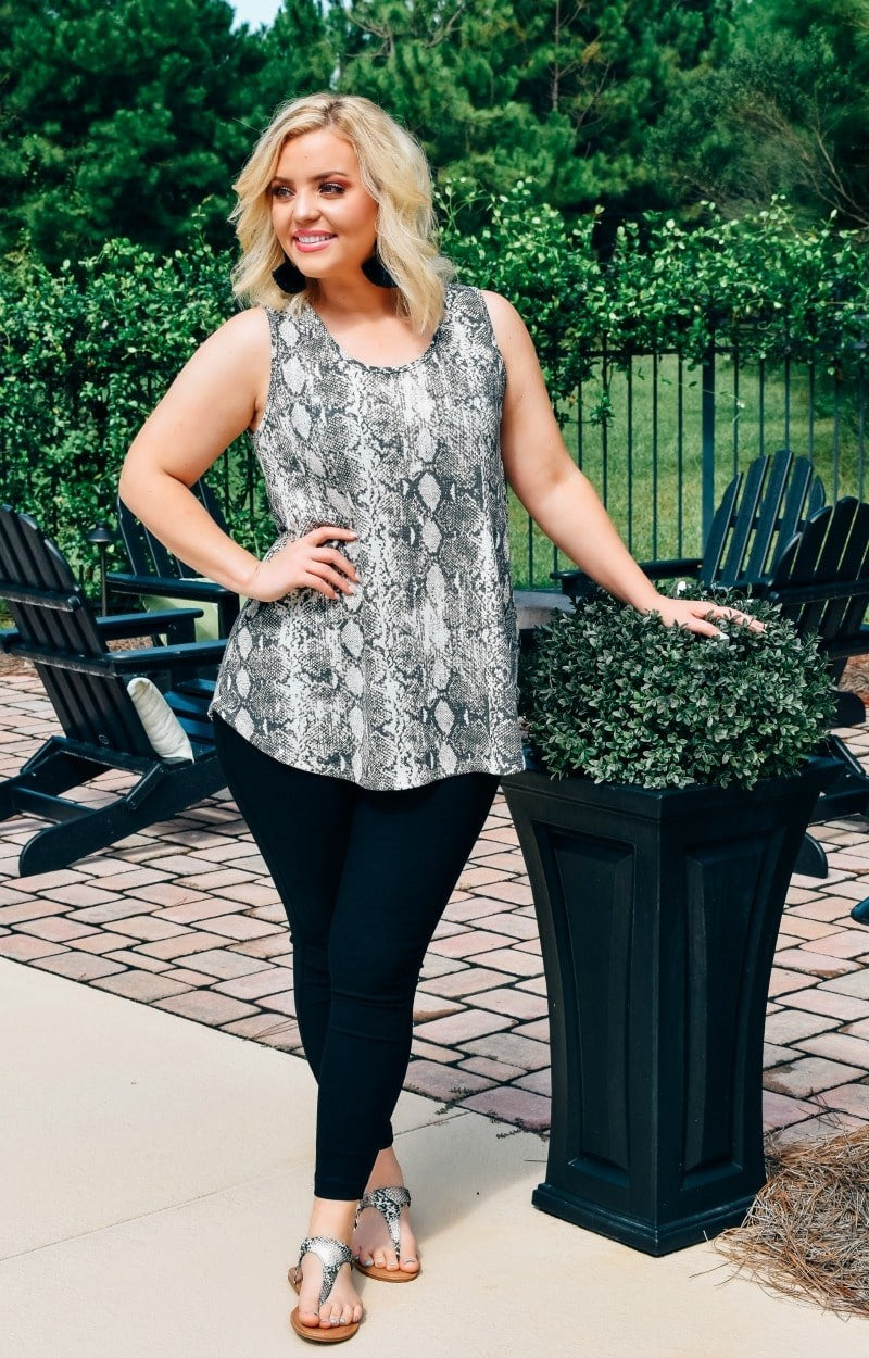 Hopelessly Devoted Snake Print Top