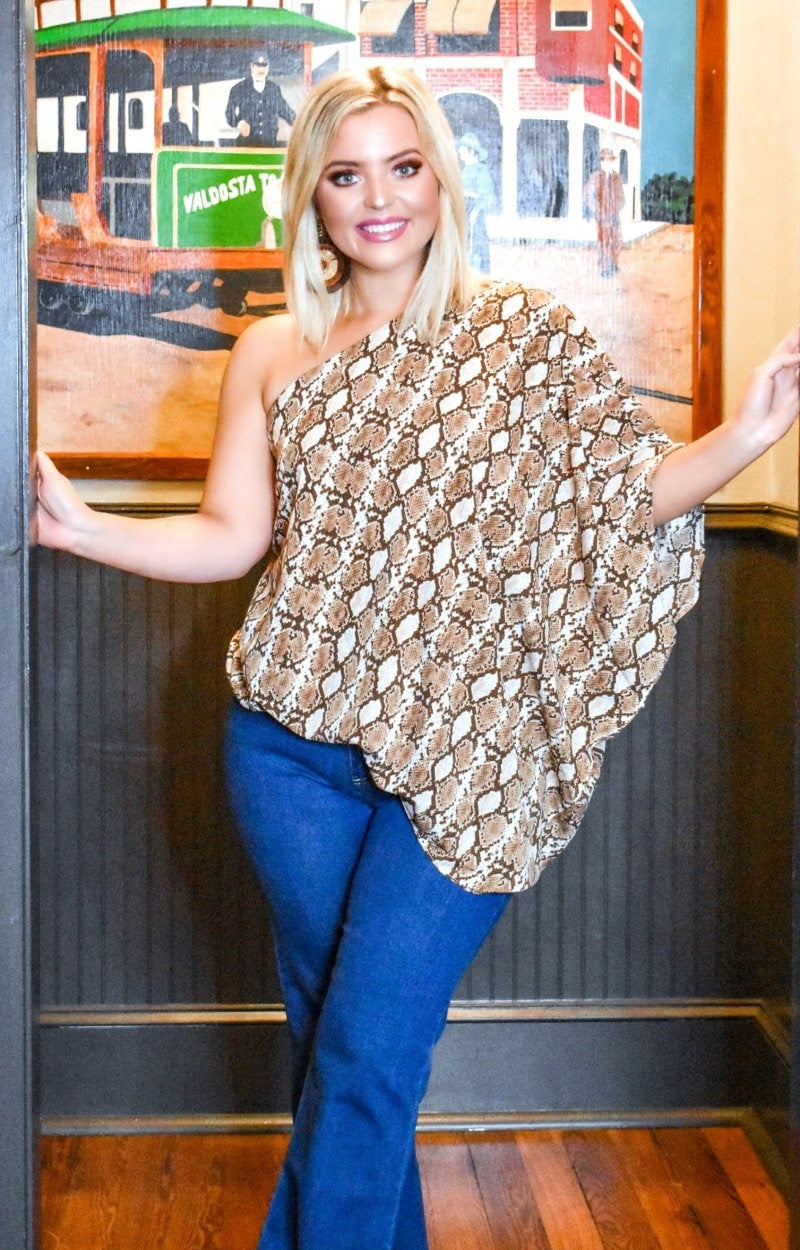 Feel The Fun Snake Print Top