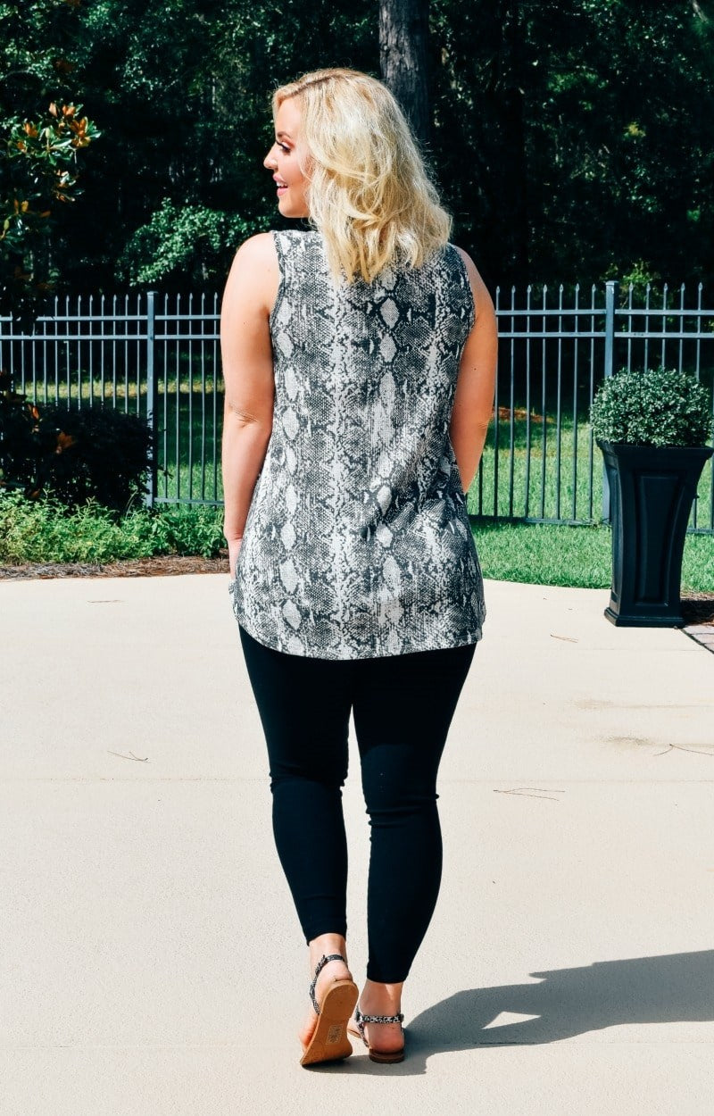 Load image into Gallery viewer, Hopelessly Devoted Snake Print Top