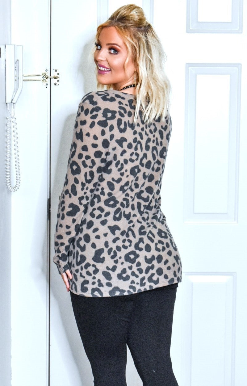 Load image into Gallery viewer, Wildly Yours Leopard Print Pullover - Mocha