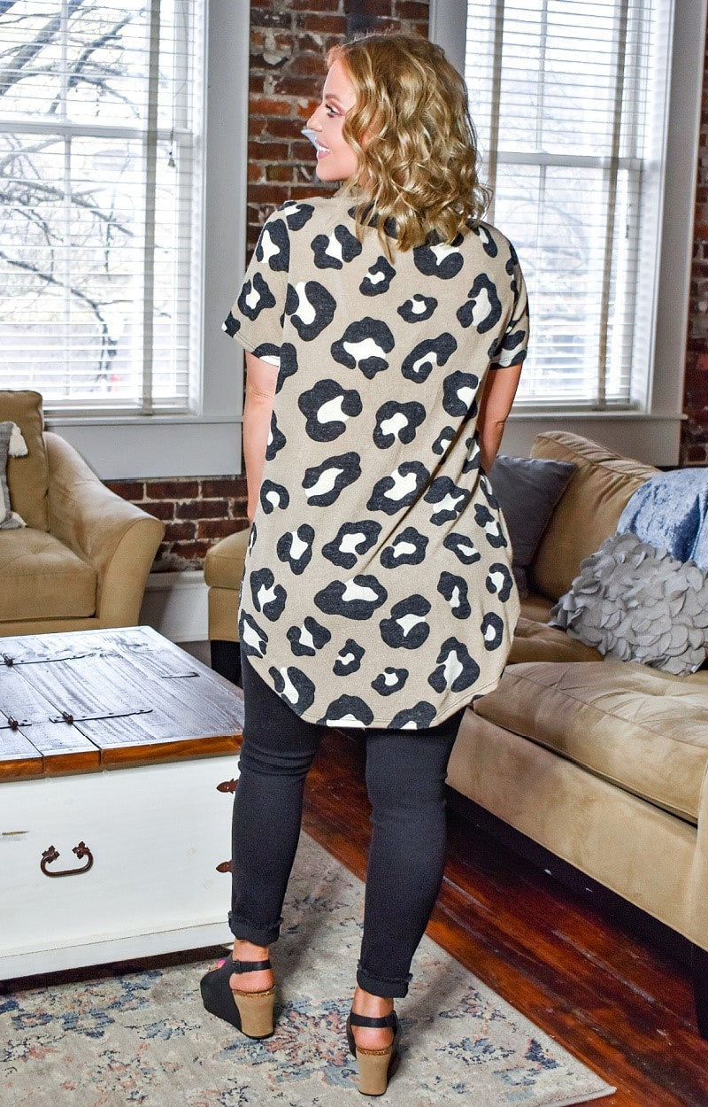 Load image into Gallery viewer, What You Seek Leopard Print Top - Mocha