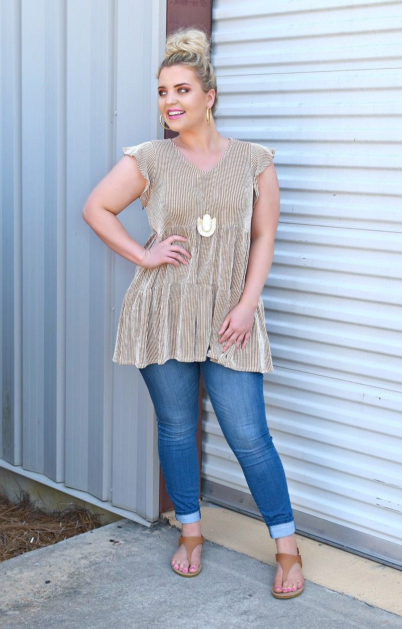 Load image into Gallery viewer, Take The Edge Off Tunic Top - Rust