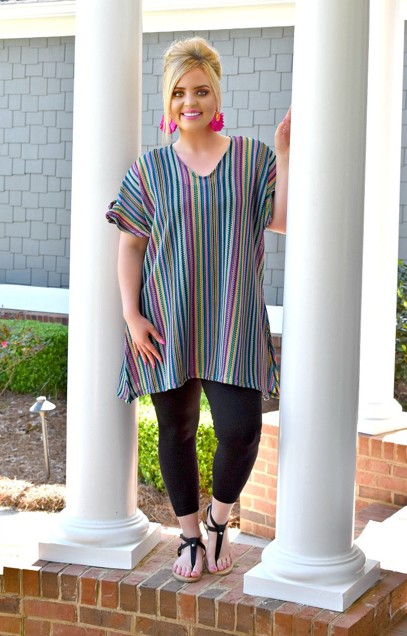 Stop The Show Striped Top - Multi