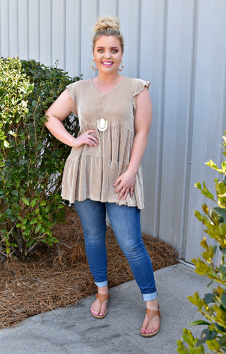 Take The Edge Off Tunic Top - Rust