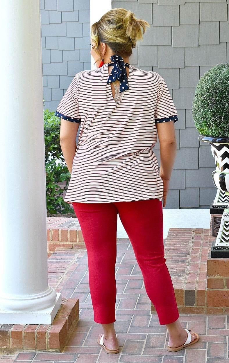 Pretty Patriot Print Top