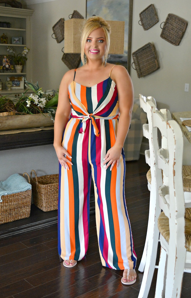 Load image into Gallery viewer, Moment To Remember Striped Jumpsuit - Multi