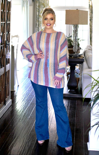 In The Zone Striped Sweater - Multi