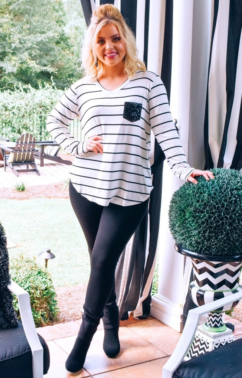 Load image into Gallery viewer, Feeling Generous Striped Top - Ivory
