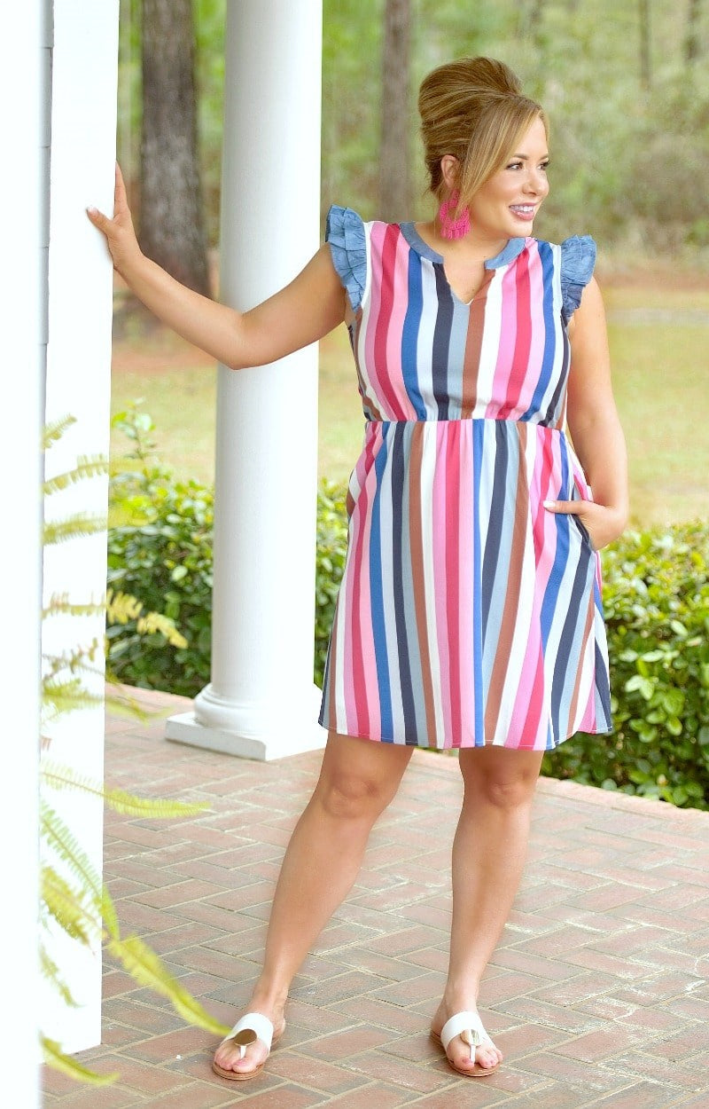 Load image into Gallery viewer, Most Of All Striped Dress - Multi