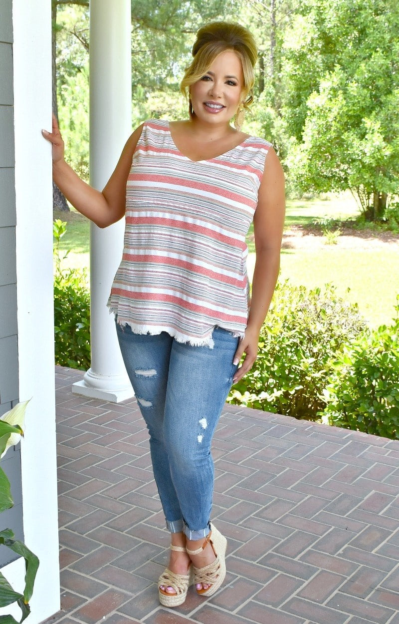 In The Rhythm Striped Top - Multi